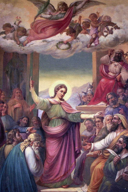 Debate de Santa Catalina con los filósofos de Alejandría.