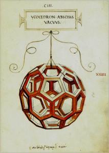 """Dibujo de Leonardo da Vinci para la obra de Pacioli """"De Divina Proportione""""."""