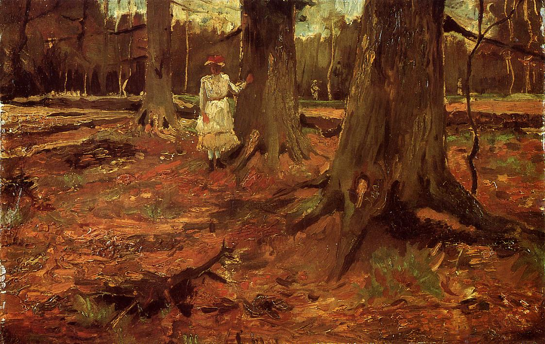 Van-Gogh-Vincent-A-Girl-in-White-in-the-Woods