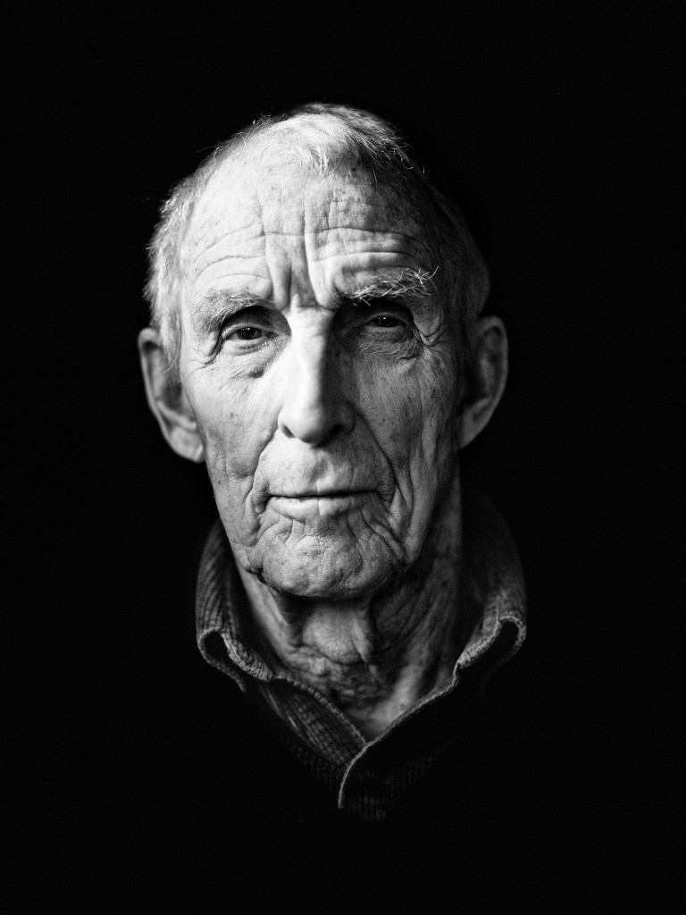 Retrato de Peter Matthiessen por Damon Winter. The New York Times, marzo 2014.