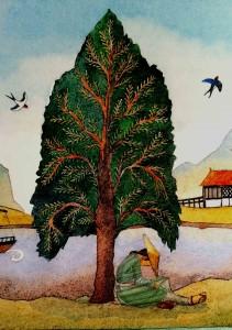 Detalle de la ilustración de Helen Cann.