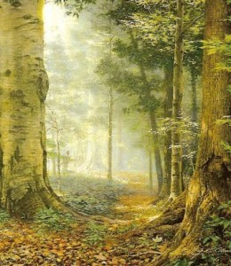 """""""Sacred grove"""" por Greg Olsen."""