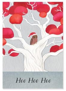 Diseño de tarjeta navideña por Tanya Wolfkamp.