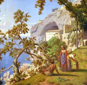 Detalle de paisaje por Théodore Caruelle d'Aligny